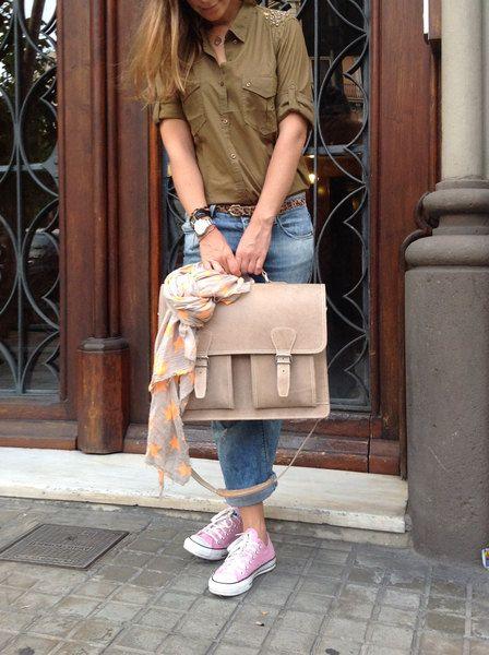 Aktentasche Lehrertasche Schultasche Leder von MyLittleDiary