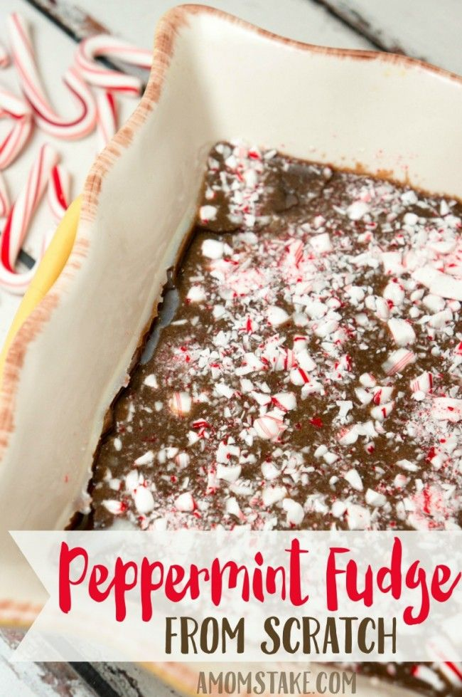 So easy to make, just 5 ingredients to make this from scratch classic fudge recipe! Turn it into a peppermint fudge by crushing up candy canes for a festive holiday treat. dairypure pureandsimple ad