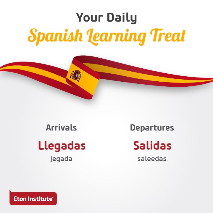 Know your way around the airport with these Spanish words.