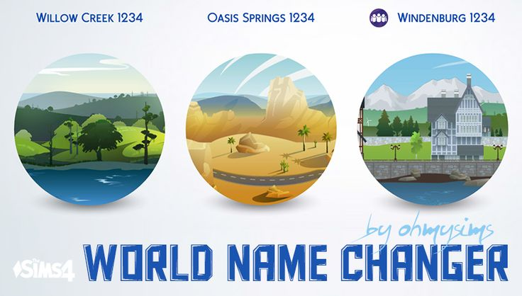 World Name Changer This is a mod that enables you to easily rename worlds to your liking. Learn how to use and download the mod after the cut. [[MORE]]0. Open the file with Sims 4 Studio. 1. Select THE LANGUAGE OF YOUR GAME from the left. 2. Click...