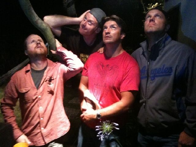 Shiny Nathan Fillion with Joss Whedon, Adam Baldwin, Alan Tudyk