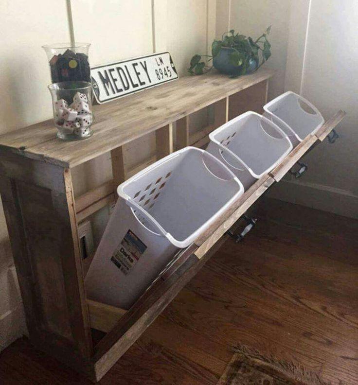Smart og pæn måde at opbevare vasketøj samtid med mulighed for sortering