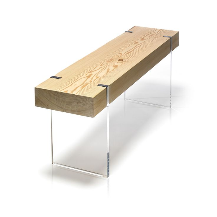 Floating Seat Featuring Clear Acrylic Frame And Legs The Tillikum Bench Is Topped With Solid