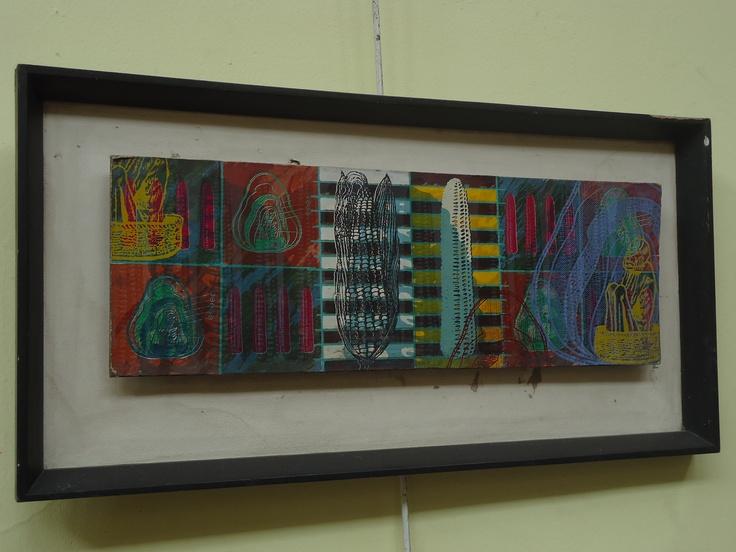 Taller de pintura en la casa cultural.