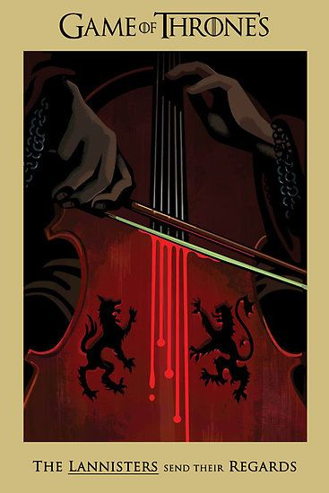 Game of Thrones (GOT) example #290: Game of Thrones - The Lannisters Send Their Regards by Rob Hansen