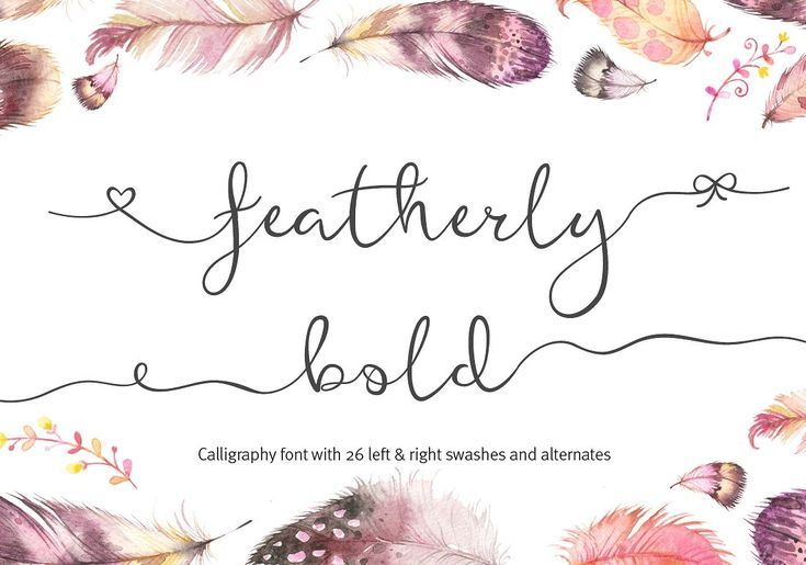 Featherly Bold // Font Bundle // by Joanne Marie // Creative Market // This bundle contains different font styles from calligraphy to brush lettering to hand lettering plus more! Many of them have alternates and swashes, even some doodles thrown in there. #font #blog #script #ad