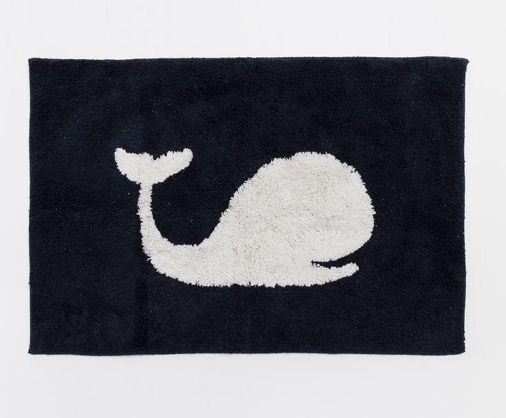 Tappeto bagno in cotone Balena, 60x90 cm | Dalani Home & Living