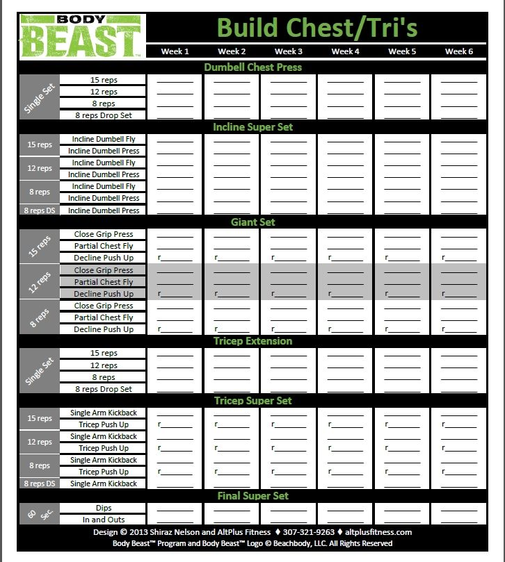 Pin By Angelina Devore On Beachbody Coach Workout Sheets Beast Body
