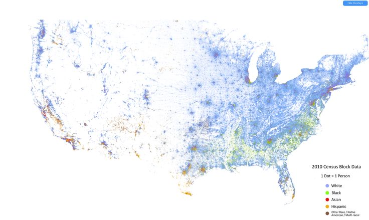 racial dot map  http://demographics.coopercenter.org/DotMap/index.html