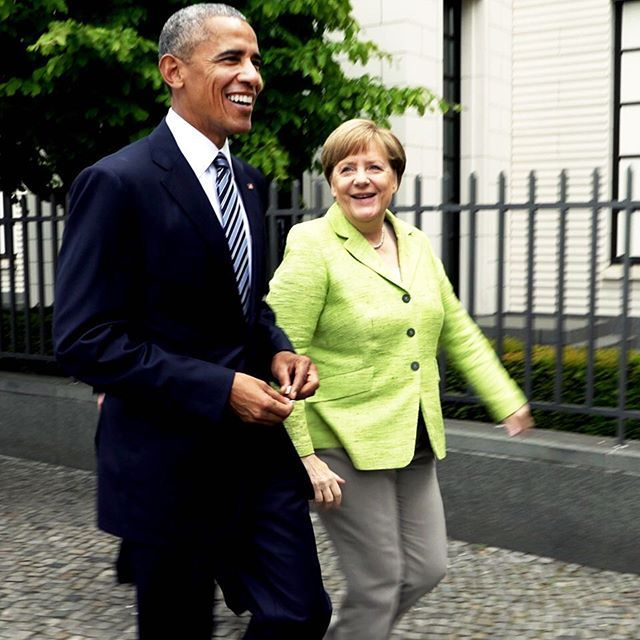 """Young people today have access to information and opportunities that would be unimaginable when I was born or Angela was born and if we can sustain that progress, then I feel very optimistic about our futures. But it's ultimately going to depend on the young people here today."" —@BarackObama with @Bundeskanzlerin Angela Merkel in Berlin today."