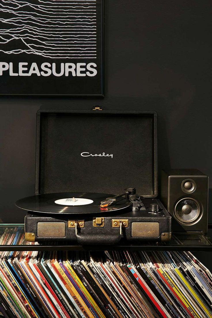 Crosley - Tourne-disque Cruiser noir et doré