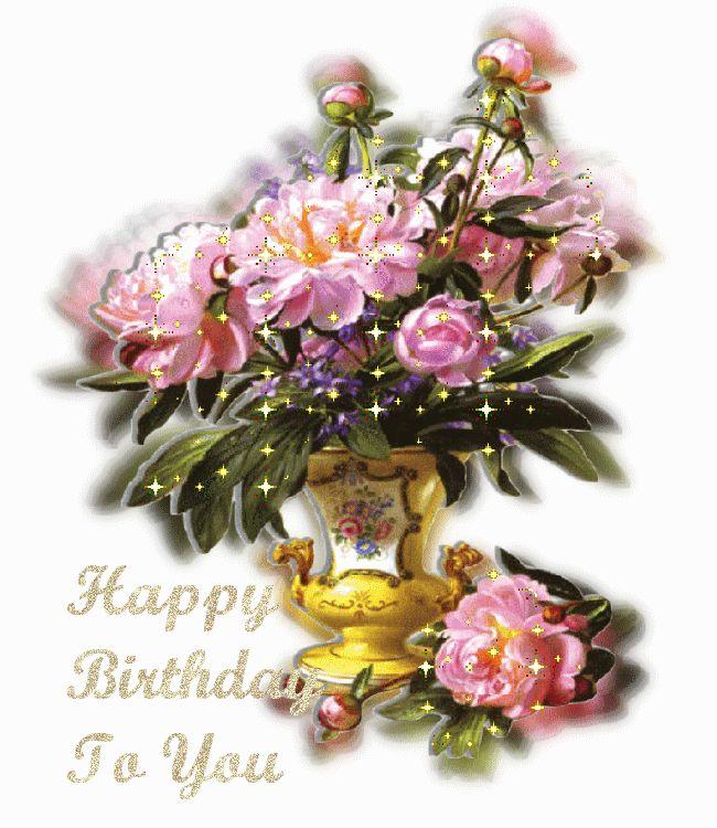 Mensagens Com Flores Animadas Happy Birthday ツ Imagens