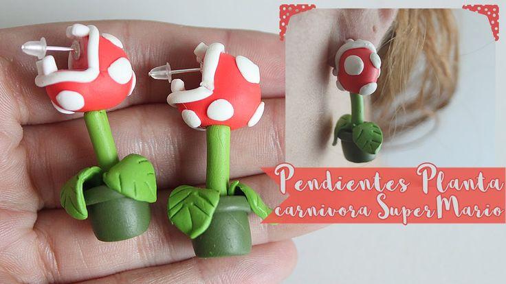 Nuevo video tutorial: Pendientes Planta Carnívora Super Mario con pasta para modelar  #manualidades #fimo #crafts #bisuteria #pendientes #SuperMario