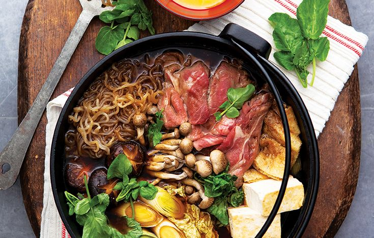 Sukiyaki (Japanese hotpot). Follow link for full recipe from appetite, North East England's dedicated food & drink publication.