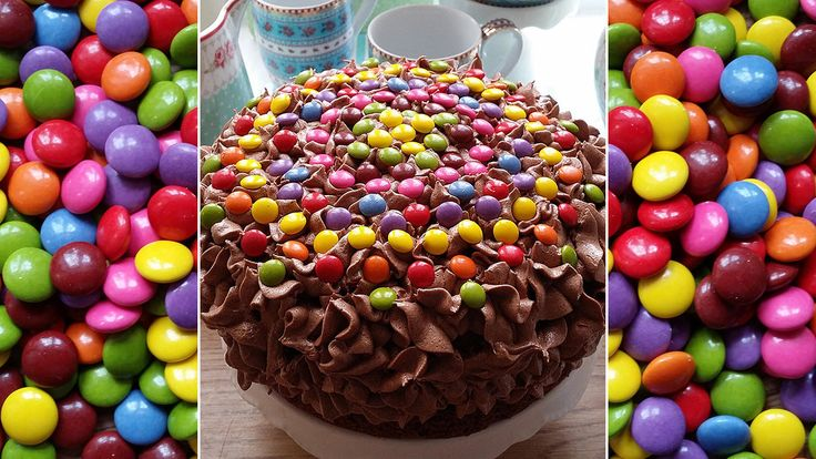 Lys sjokoladekake med non stop og O'boy