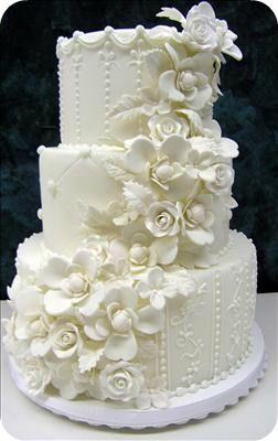 Elegant White Cake - Colette's Cakes, Inc.