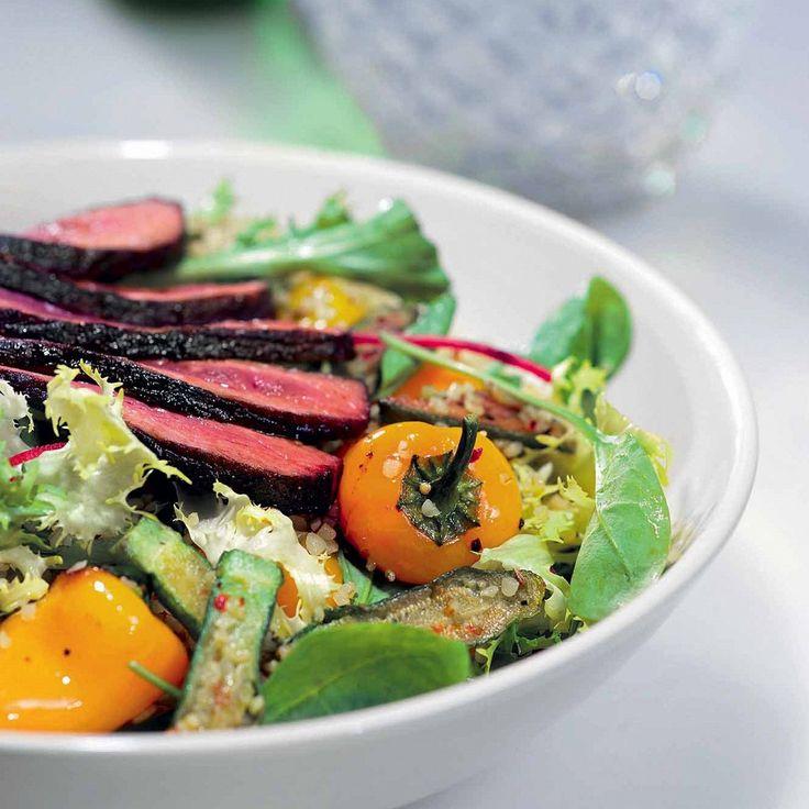 Салат с булгуром и говядиной