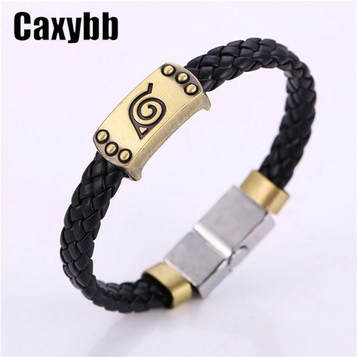 Naruto Konoha Itachi Logo Leather Bracelet //Price: $9.42 & FREE Shipping //