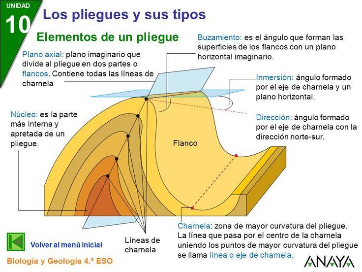 Resultado de imagen de elementos de un pliegue