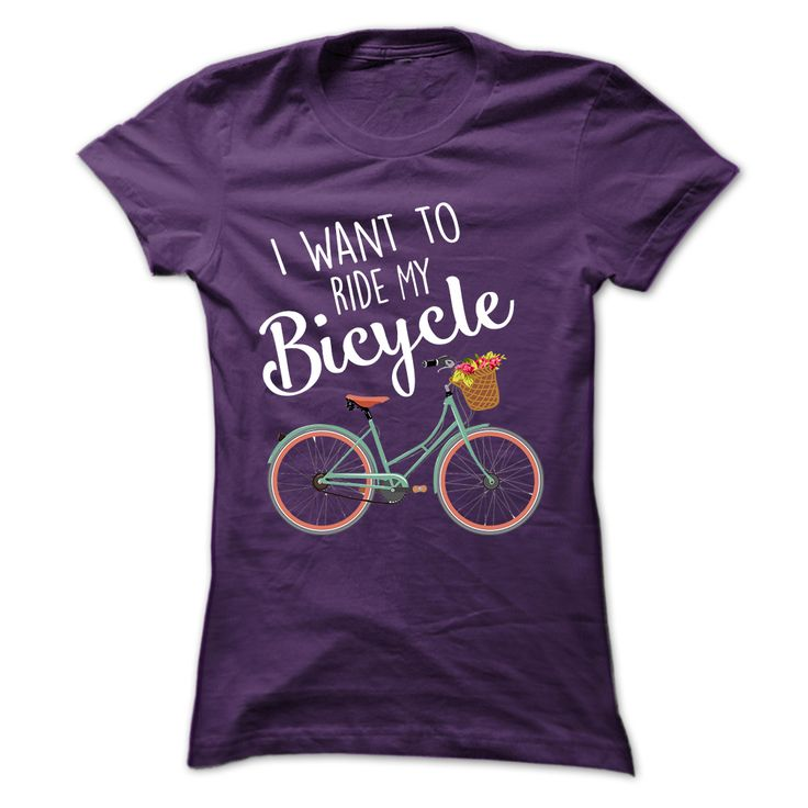 I Want to Ride My Bicycle! Cute T…just can't decide which color!?!?!