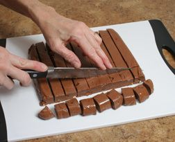 How to Make Fudge from RecipeTips.com! (This is the real sugar fudge.  My mom would have loved this!)