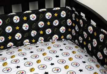 Pittsburgh Steelers Baby Crib Bumper this is so cool! I wish i had this for my kids.