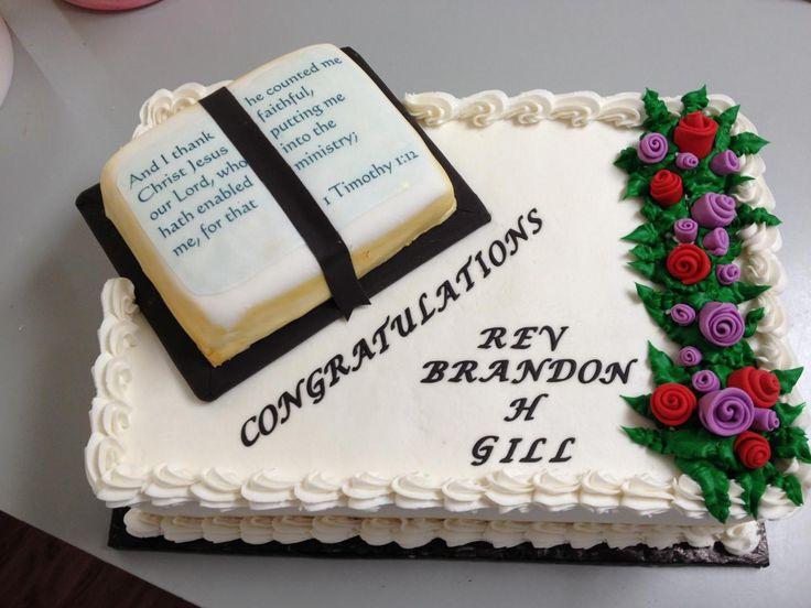 Ideas For Pastor Appreciation Cake