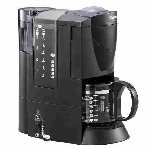 ZOJIRUSHI coffee maker black [Cup approximately 1 ~ 6 tablespoons] EC-VL60-BA