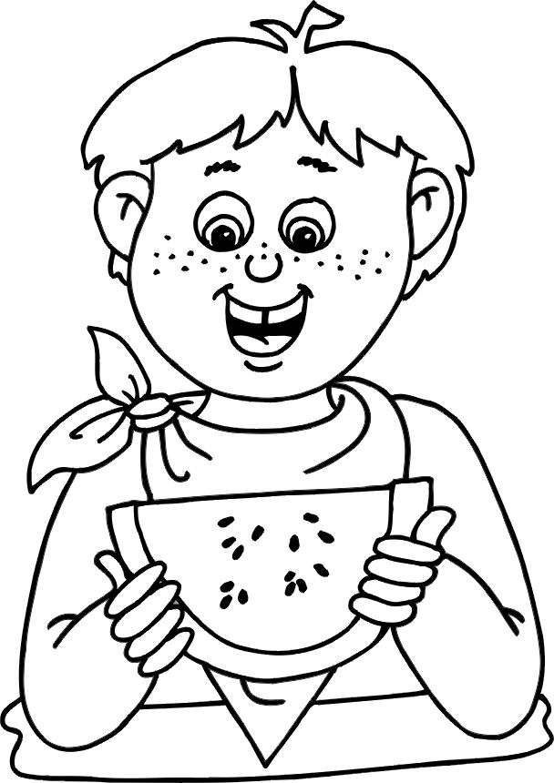 Preschool Summer Coloring Pictures