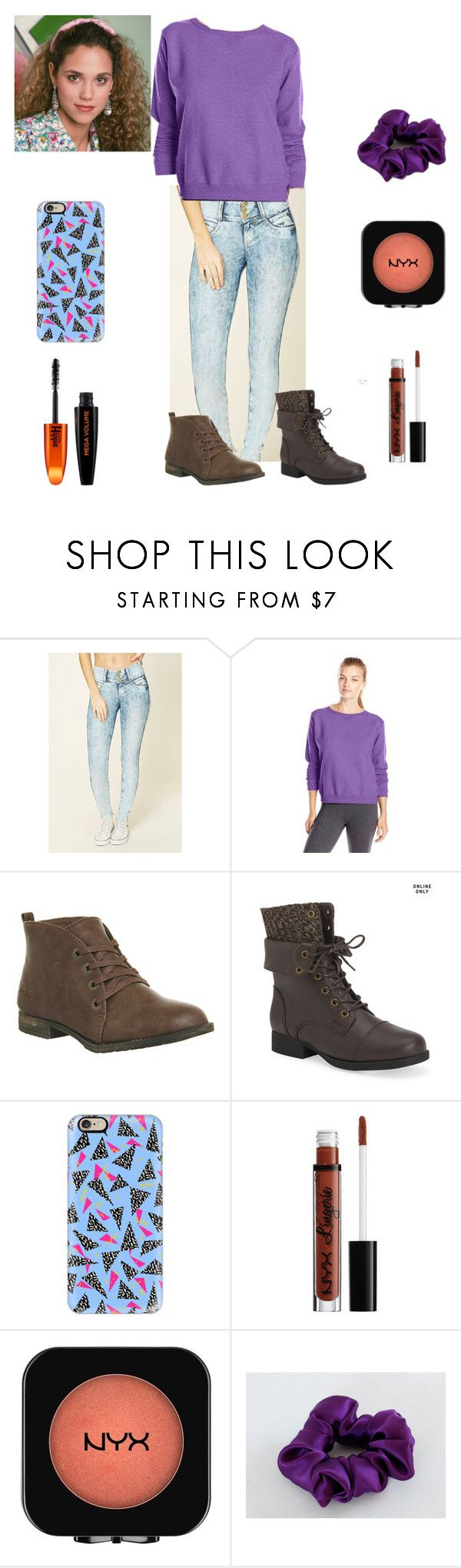 """""""Jessie Spano SBTB"""" by nlizzie6299 on Polyvore featuring Forever 21, Hanes, Blowfish, Aéropostale, Casetify and L'Oréal Paris"""