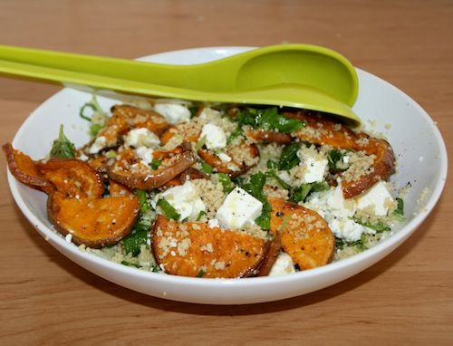 Couscous met bataat en feta  beautiful food, foodblog, foodpic, foodpics, eetfoto's, mooie eetfoto's, foodporn, healthy, food, voedsel, recept, recipe, sweet potatoe