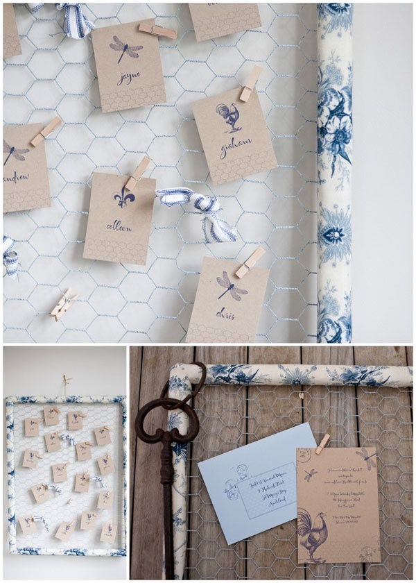 Brown craft pegged escort cards, for a more casual wedding than we will be having, but aren't they just super cute?! =D