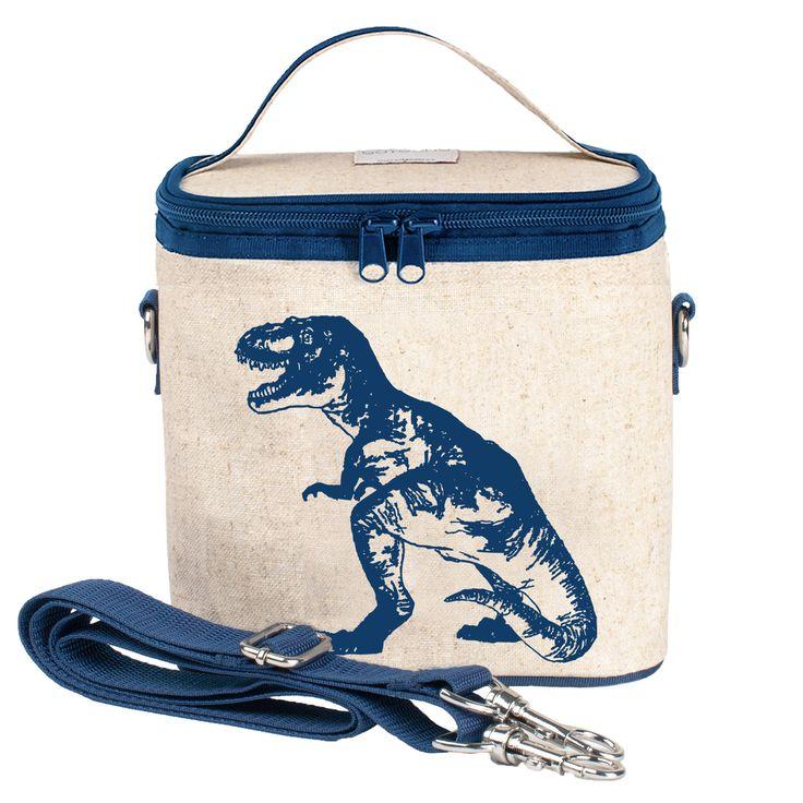 RAW LINEN - Blue Dino Small Cooler Bag