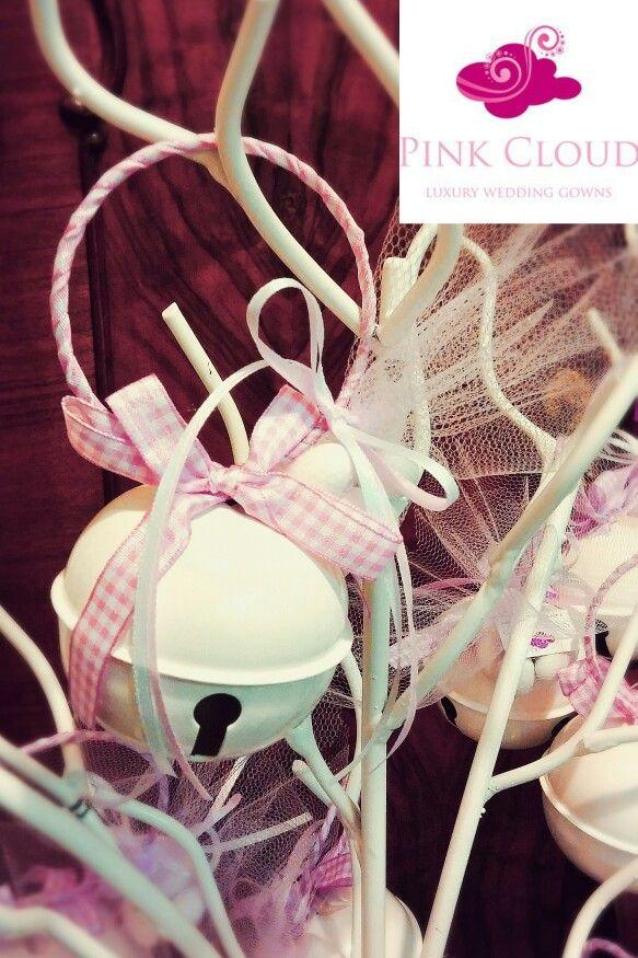 #Μπομπονιερα#βαπτιση#κοριτσι#pinkcloud#κουδουνιστρα#ροζ