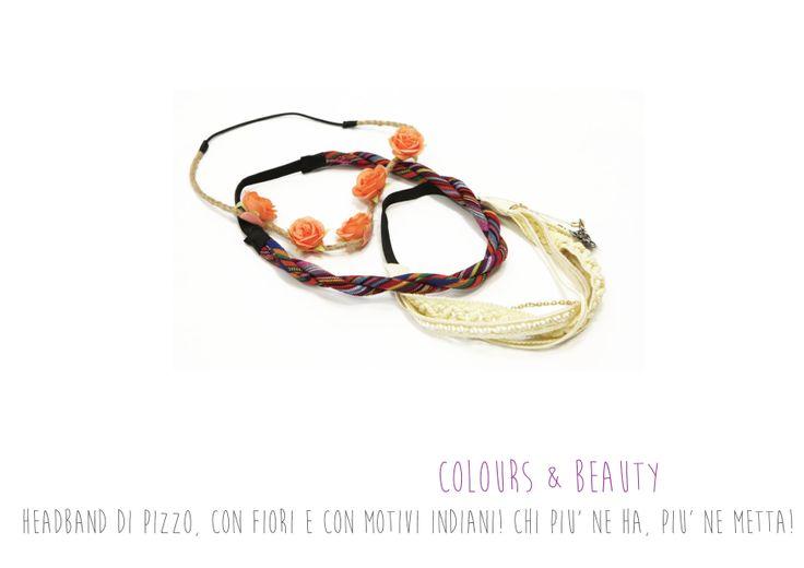 Colours Beauty - Headband di pizzo, con fiori e con motivi indiani!
