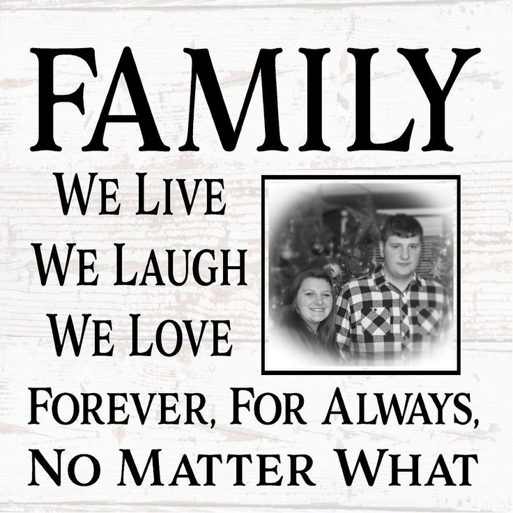 Love No Matter What: Family Live Laugh Love No Matter What Photo Canvas Or