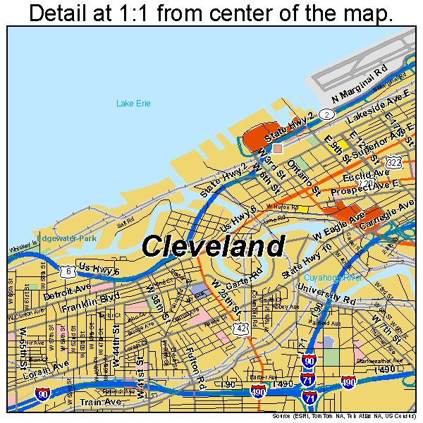 Best Map Of Cleveland Ohio Ideas On Pinterest Map Of Ohio - Cleveland ohio usa map