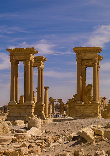 The Ancient Roman city of Palmyra, Syria.  THE LIBYAN Esther Kofod www.estherkofod.com