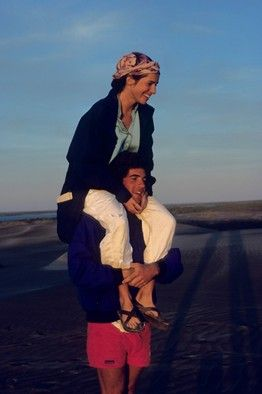 John F. Kennedy Jr. and Christina Haag in Baja California in 1988. I like this picture and the article is good too.