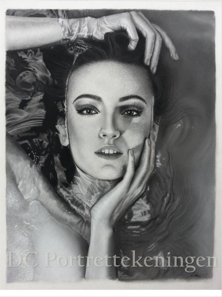 """""""Serenity"""" realistic portrait drawing made with pastelpencils"""