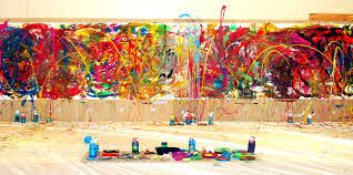 action painting! I really like action painting it a creative way of painting and it uses bright colours. I think that action painting is also good for emotional feeling aswell. action painting links in with graffiti with all the layer of colours I think that it is really interesting.