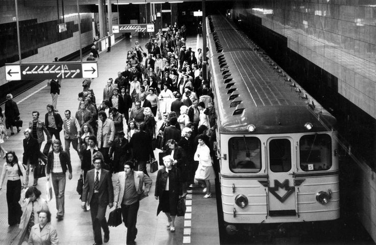 Čtyřvozová souprava na Muzeu, rok 1975