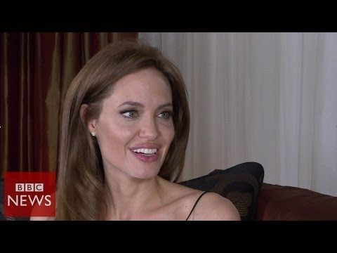 'I have a very fortunate life' Angelia Jolie - BBC News - YouTube