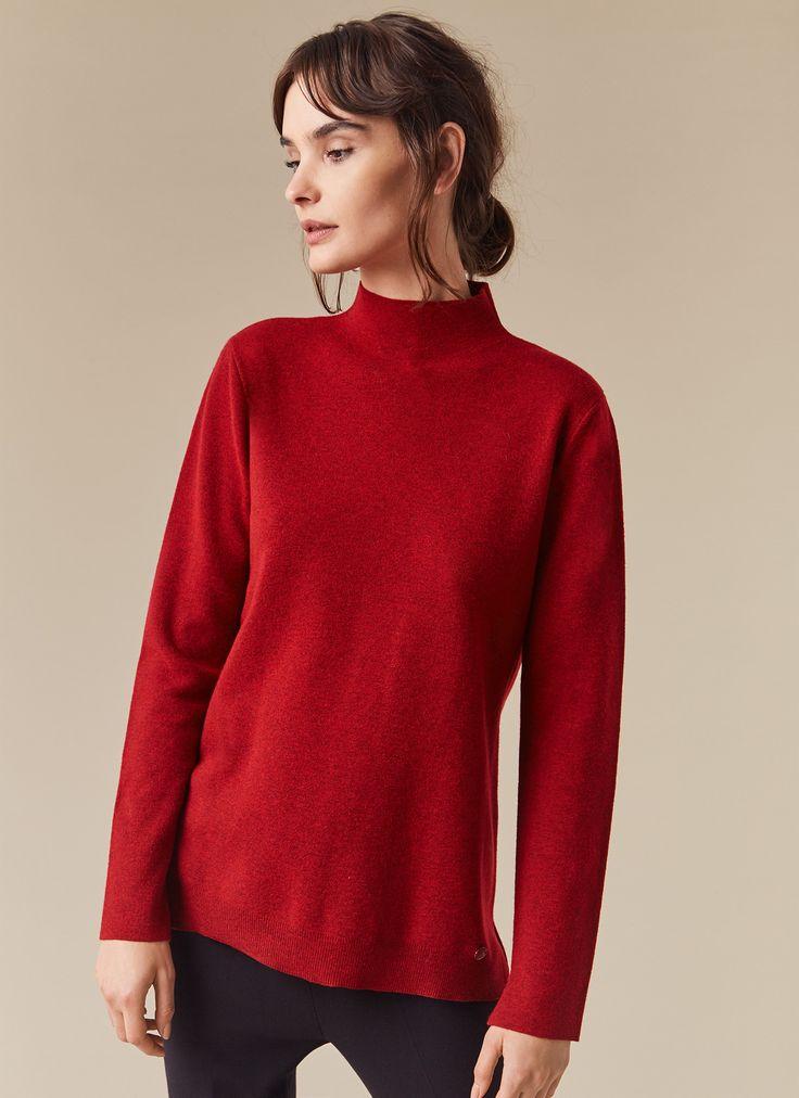 Jersey de lana con cuello subido - Colección | Adolfo Dominguez shop online