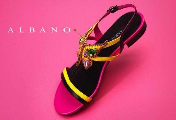 Jeweled sandals, shoes, Albano, high heels, sneakers, sandals, lurex, open-toe pump, platform sandals
