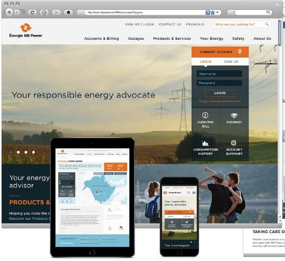 New Brunswickers can easily pay bills, check account histories and report outages from the desktop, mobile phone or tablet of their choice. The new site, including a completely reimagined visual approach, lets customers see the human side of NB Power and encourages engagement with the site's news and information.   #interaction #technologies #Web #UXDesign #GraphicDesign #InformationArchitecture