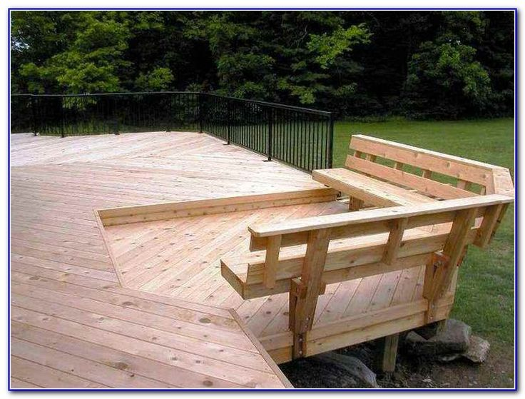 17 Best Ideas About Deck Benches On Pinterest Deck Bench