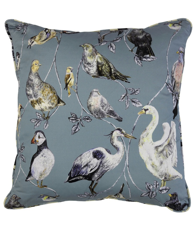 Flights of Fancy Topsy Turvy Cotton Satin Cushion, House of Hackney.