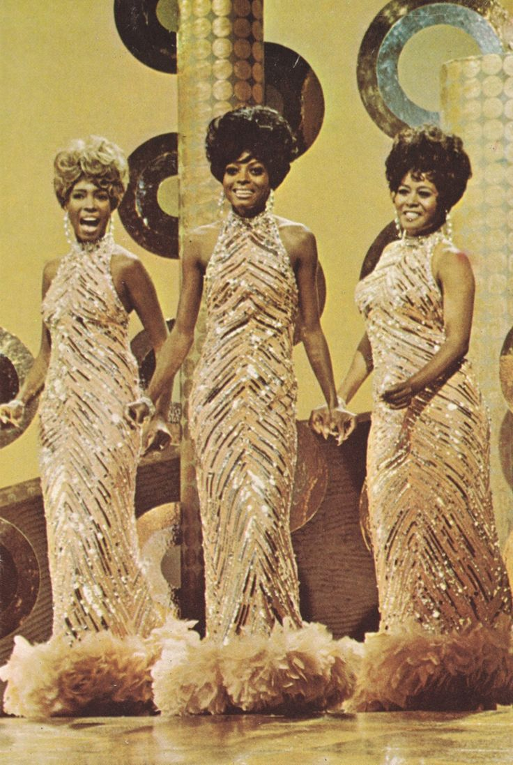 Diana Ross & The Supremes GIT on Broadway (gatefold cover art from the soundtrack LP), 1969.