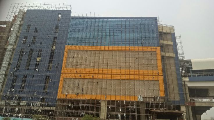 Front Elevation Noida : Best ark acp cladding and structural glazing
